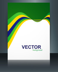 Brazil flag reflection brochure concept creative business templa