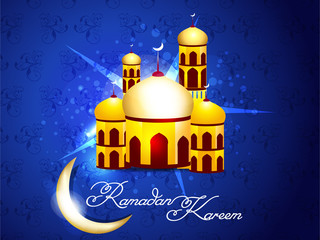 Blue Ramadan Background