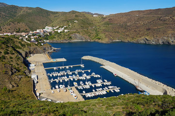 PortBou Marina in the Costa Brava Spain