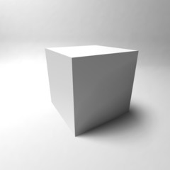Cube 3D on gray background. Vector illustration.