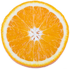 Juicy orange isolated on white background