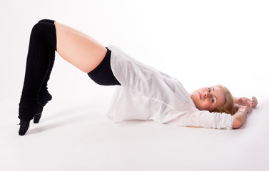 flexible athletic woman