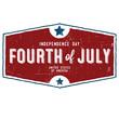 Retro 4th of July Shield
