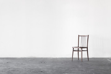 White wall texture with a chair