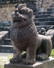 Lion in Borobudur