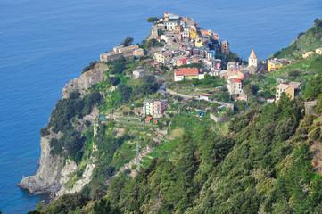 Fischerdorf Corniglia in den Cinque Terre in Ligurien