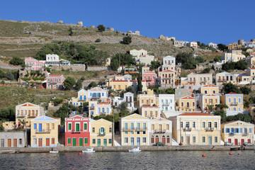 im Hafen von Symi, Griechenland