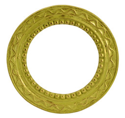 Round gold vintage frame