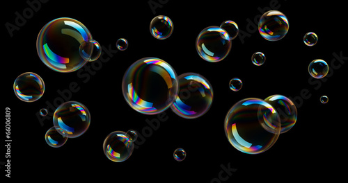 Leinwandbild Motiv Seifenblasen
