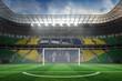 Vast football stadium with goal