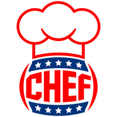 6 Stars Chef Logo Design
