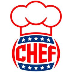 6 Stars Chef Logo Design