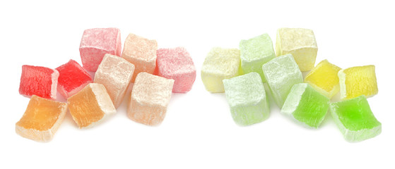 Turkish delight isolated on white background