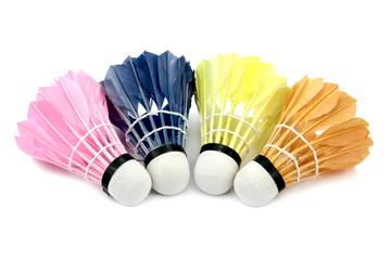 Badminton shutlecocks isolated on white background.