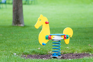 horse seesaw on a playground