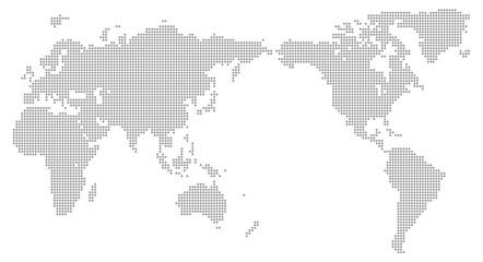 グローバルイメージ・地球・ドット素材