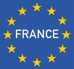 France et le symbole europe
