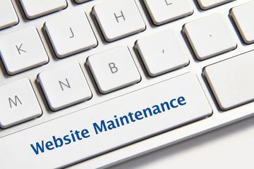 Website maintenance button