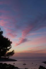 puesta sol en ibiza