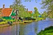 Dutch houses at the historic village of Zaanse Schans