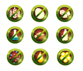 Food intolerance signs. Signs for food which not contain specifi