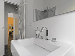 detail of wasbasin in a modern bahtroom