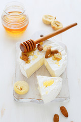 Camembert, honey and nuts