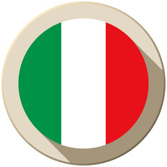 Italy Flag Button Icon Modern