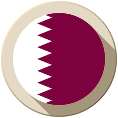 Qatar Flag Button Icon Modern