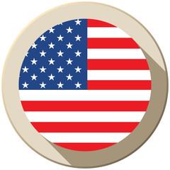 USA Flag Button Icon Modern