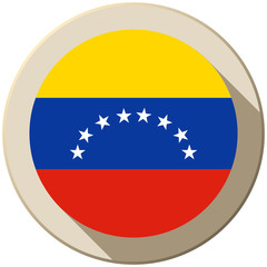 Venezuela Flag Button Icon Modern