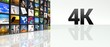 4K technology video wall LCD TV panels
