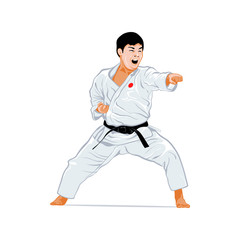 Karate fighting stance