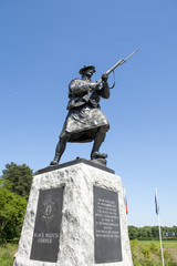Statue of soldier ww1 royal highlanders in flanders fields