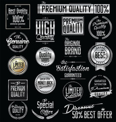 Premium quality silver labels