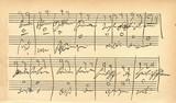 Beethovens autograph (IX symphony-Freude, schöner Götterfunken)