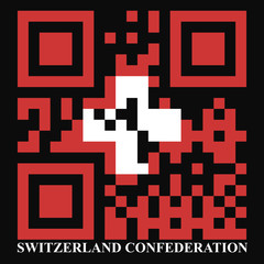 Norway QR code flag, vector