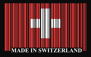 Switzerland barcode flag, vector