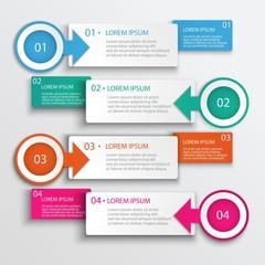 Four Step Infographic Design Modern Vector Illustration
