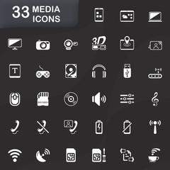 33 MEDIA ICONS