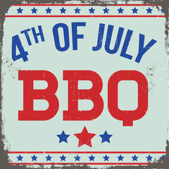 Retro 4th of July BBQ Sign