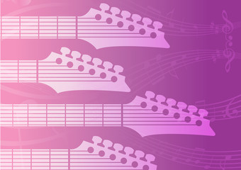 electric Guitar headstocks background