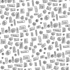 doodle design elements square and circle pattern