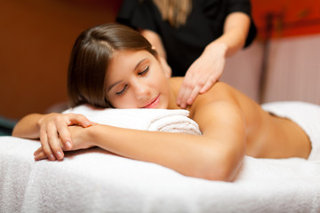 Beauty treatment in a spa salon