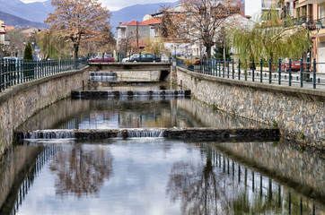 The river in Florina, Greece