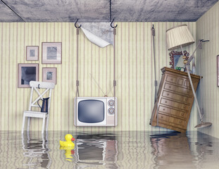 life in the flooded flat