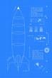 Blueprint Rocket (vertical) - 66015256
