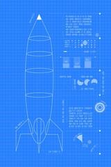 Blueprint Rocket (vertical)