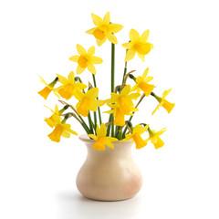 Osterglocken in einer Vase