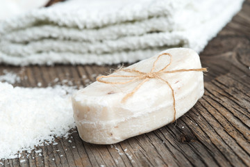 Walnut coconut soap